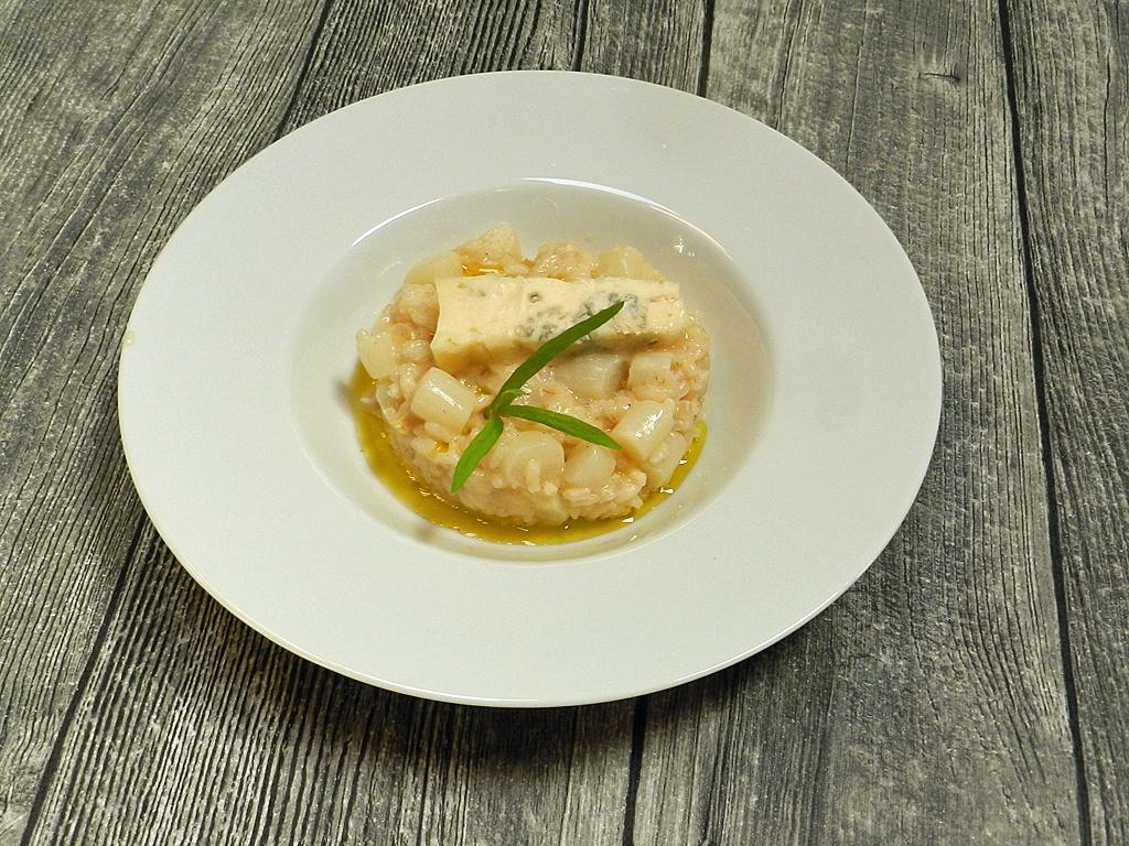 Dahinschmelzen: Spargelrisotto mit Gorgonzola.