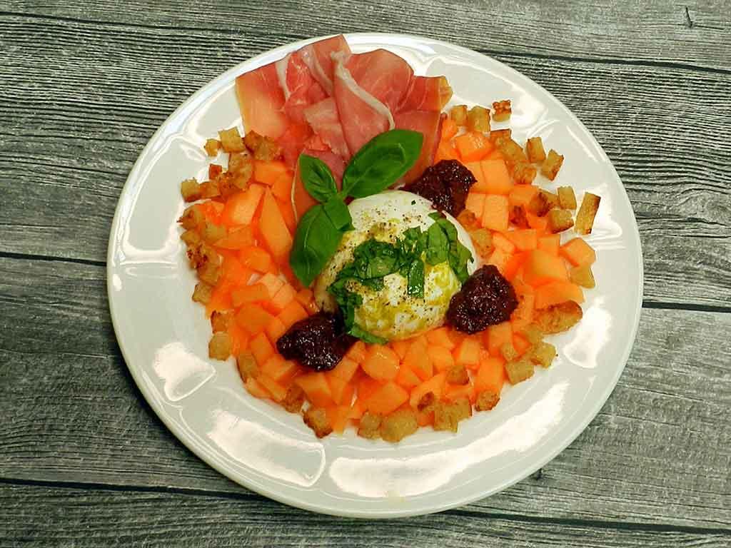 Purer Genuss: Melone mit Schinken.